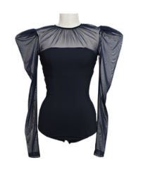 FETICO /  Tulle combined body suit ( NAVY )