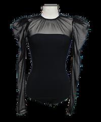 FETICO /  Tulle combined body suit ( Black )