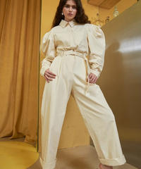 GHOSPELL / WHITE HORSE JUMPSUIT WITH BELT