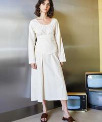 GHOSPELL / Stream Belted Midi Dress