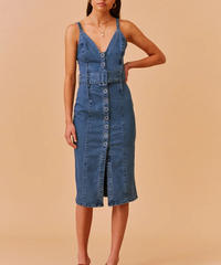 FINDERS / COCO MIDI DRESS WASHED BLUE