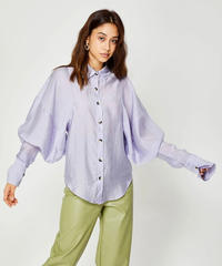 GHOSPELL / CRACKLE GLAZE SEAM DETAIL SHIRT