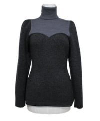 FETICO /  Puff sleeve knit top  ( GRAY )