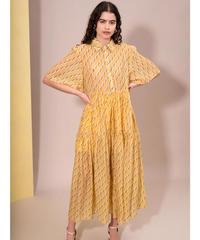 GHOSPELL / Horizon Flare Tiered Midi Dress