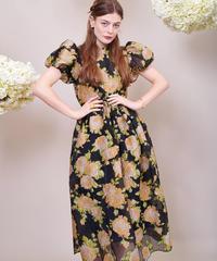sister jane / DREAM Floral Clover Jacquard Midi Dress
