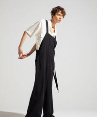 Robes & Confections  /  Washable Rayon Twill Baggy Salopette
