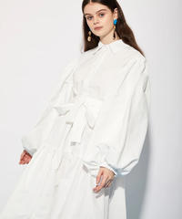 GHOSPELL / MANAGER TIERED MAXI SHIRT DRESS