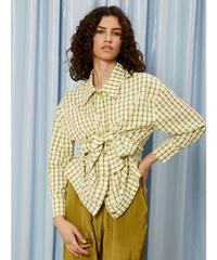 GHOSPELL / Typewrite Tie Front Shirt