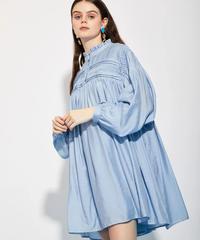 GHOSPELL / SPREE SMOCKED MINI DRESS