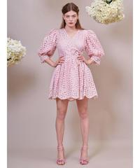 sister jane / DREAM Pink Petalled Mini Wrap Dress