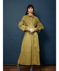 GHOSPELL / Accent Light Midi Shirt Dress