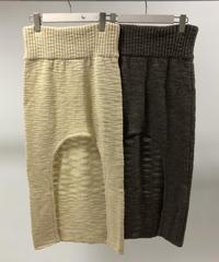 QUWAGI  / Round Slit Knit Skirt