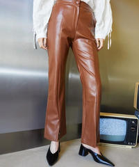GHOSPELL / Definition Faux Leather Trousers