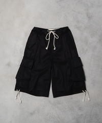 【5.8[sat]20:00‐PRE‐ORDER】VENTILE ® COTTON MILITARY BERMUDA PANTS(BLACK)