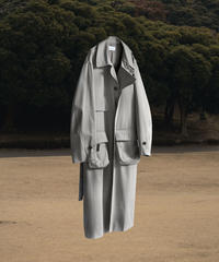 VENTILE OVERSIZED SINGLE TRENCH COAT(GRAY)