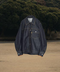 OVERSIZED DENIM  JACKET  (INDIGO RIGID)