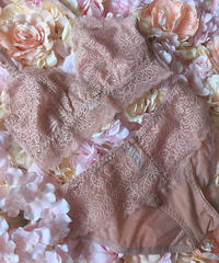 pink bralette set up