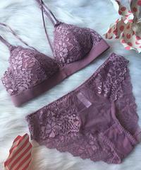 パッド付き lavender pink bralette set up