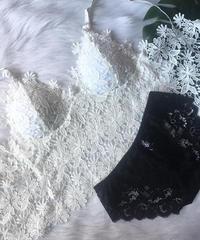 ビスチェタイプブラレット flower white ×black