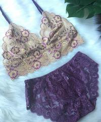 beige × purple