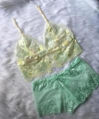 pastel  yellow × pastel green