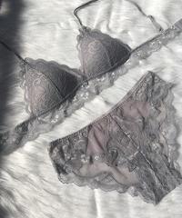 パッド付き silver  gray bralette set up