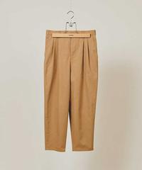 DIGAWEL  2TUCK TAPERED PANTS(COTTON)【BEIGE】