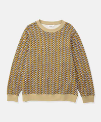 DIGAWEL  SWEAT SHIRT ①(Herringbone) 【YELLOW】