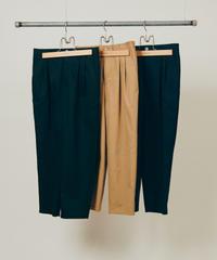 DIGAWEL  2TUCK TAPERED PANTS(COTTON)【BLACK】