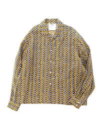 DIGAWEL  OPEN COLLAR L/S SHIRT ②(Herringbone)
