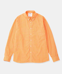 DIGAWEL  GINGHAM SHIRT(ORANGE)