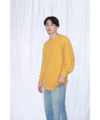 No.W-055  whole garment Knit-Mustard(桑染め)