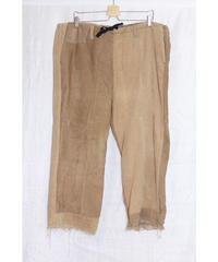 No.R-W-101 Fringe Corduroy Pants (Brown×Beige)