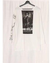 No.R-W-022 remake rocktee front and right sleeve print tee
