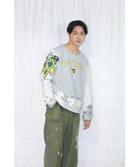 No.R-W-047 remake college logo line pullover shirt