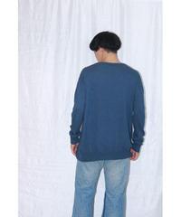 No.W-018  whole garment Knit-Navy(藍染、桑染、屋久杉染)
