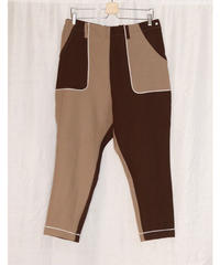 No.R-W-058 remake  western pants (Beige×Brown)