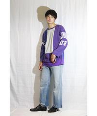 No.R-W-003 remake trickart wide pants   (Indigo)