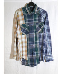 No.R-W-065 remake 3 panel western shirt
