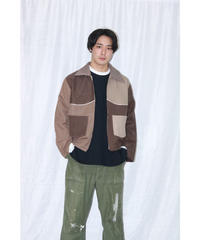 No.R-W-057 remake  western blouson (Beige×Brown)