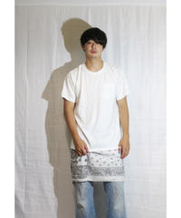 【限定アイテム】No.R-W-102 Switching Pullover -BANDANA (White×White)