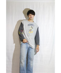 No.R-W-023 remake collegetee front and right sleeve print tee