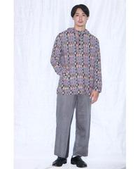 No.R-W-003 remake trickart wide pants (Gray)