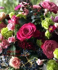 季節の花のおまかせ花束magnifique