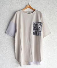 異素材切替BIGポケットTシャツ(AF282003-40)