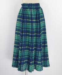 チェックフレアロングスカート(RG013001-60)