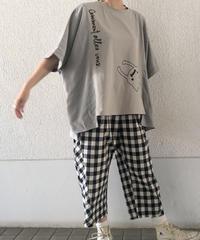 異素材ワイドTシャツ(RF254006-06)