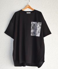 異素材切替BIGポケットTシャツ(AF282003-09)