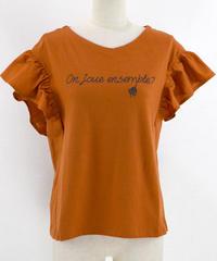 異素材フリルTシャツ(RF239001-43)