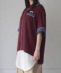 バイカラーパイピングシャツ(AE046003-52)
